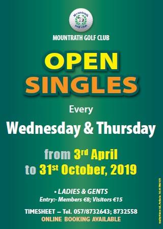 Weekly Open Singles