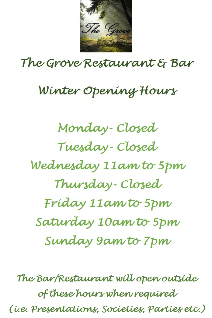 Grove Winter Opening Hours